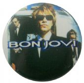 Bon Jovi - 'Jon Suit' Button Badge